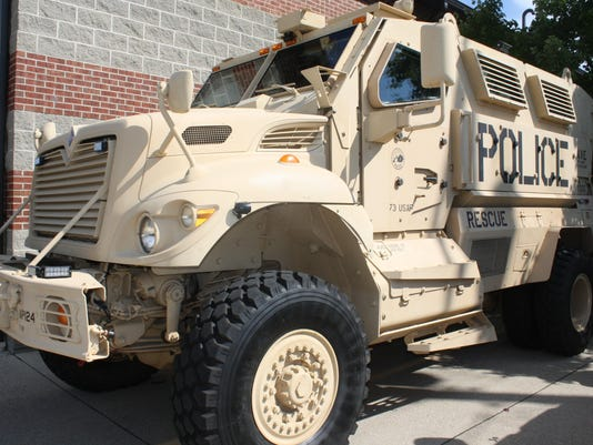 Army police vehicle