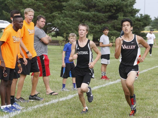 Ankeny Centennial's Jonah Vicker is one of the top distance runners for the Jaguars' track team this season.