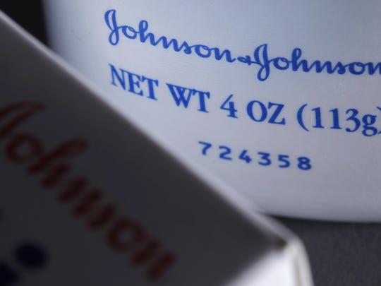 This photo illustration shows Johnson & Johnson products.