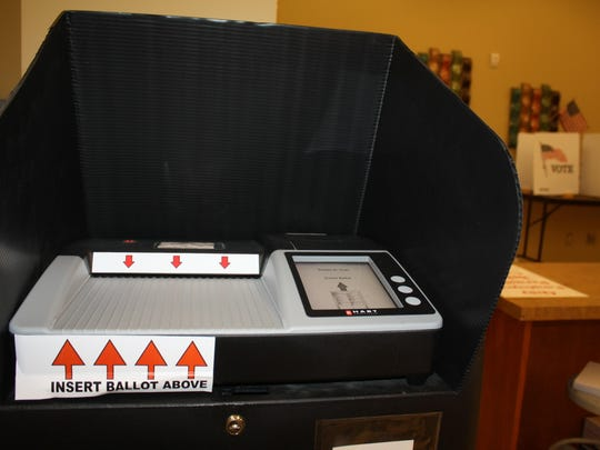 A voting machine in Campbell County.