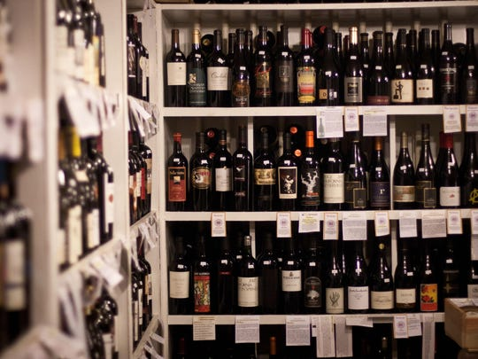 A selection of wine at Clusters & Hops.