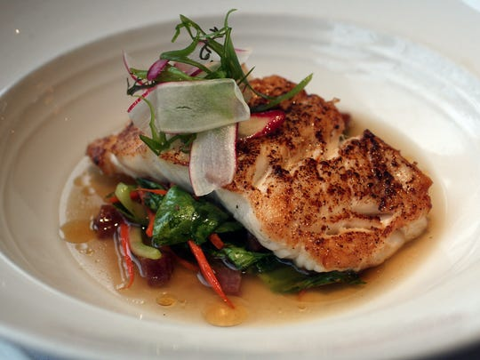 Szechuan-spiced Chatham cod at Ninety Acres Culinary Center in Peapack-Gladstone.