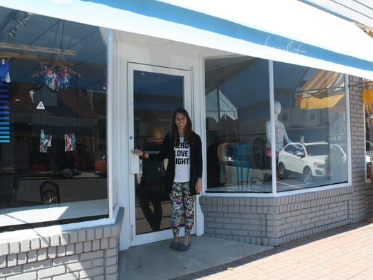 """Alison Keating has opened Barefoot, a Spring Lake boutique that sells """"athleisure"""" clothing."""