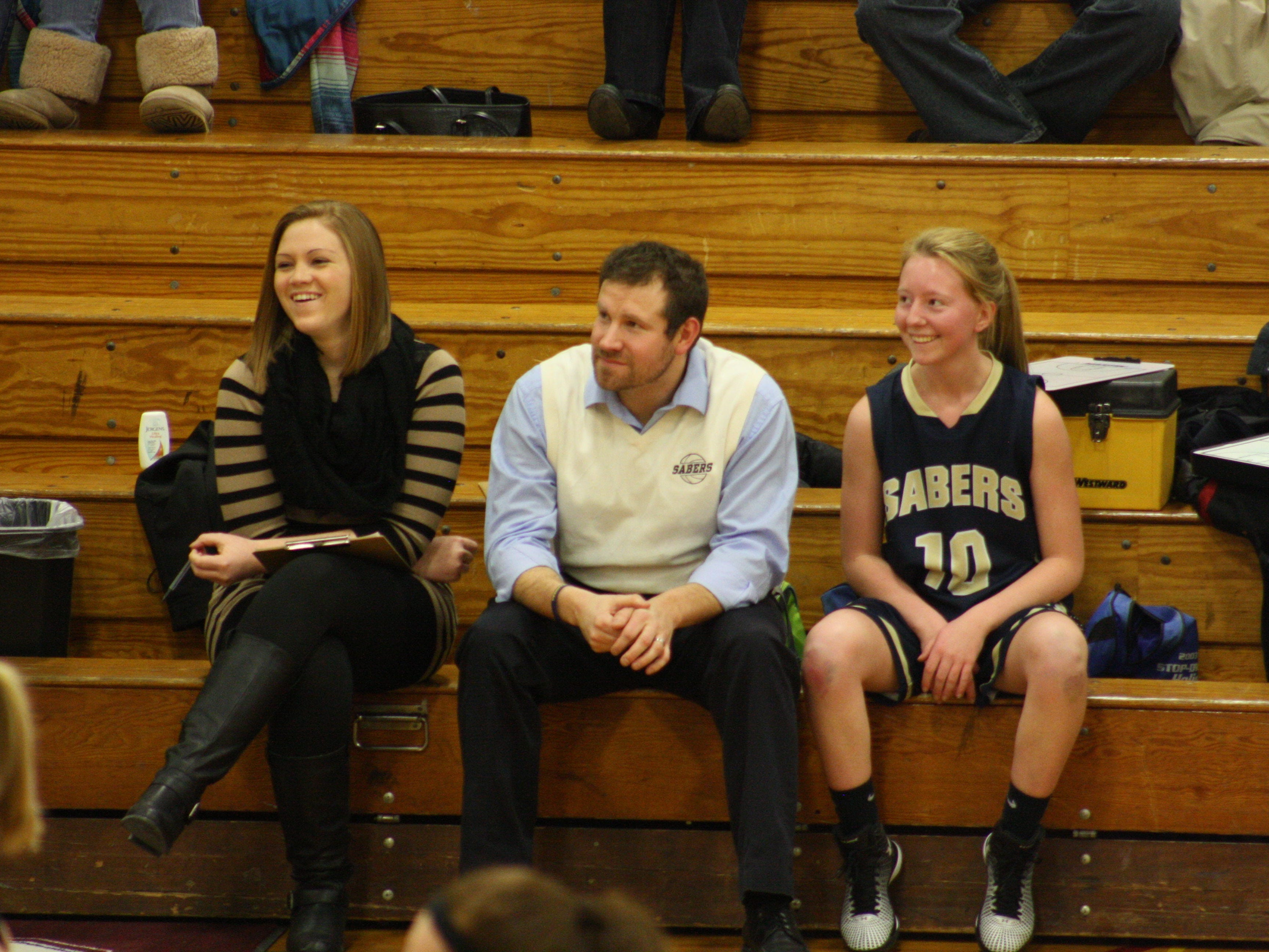 Susquehanna Valley girls basketball coach Chad Freije, center, looks on during a Dec. 23 game at Oneonta.