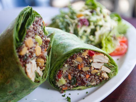 The Power Up Wrap at Paradise Deli and Market is served with kale slaw.