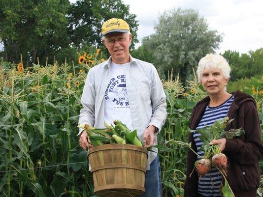 The Gormans enjoy the bounty of their garden throughout the season..JPG