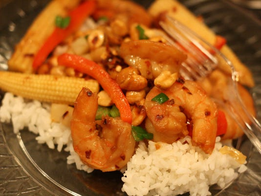 Ginger Peanut Shrimp Stir Fry
