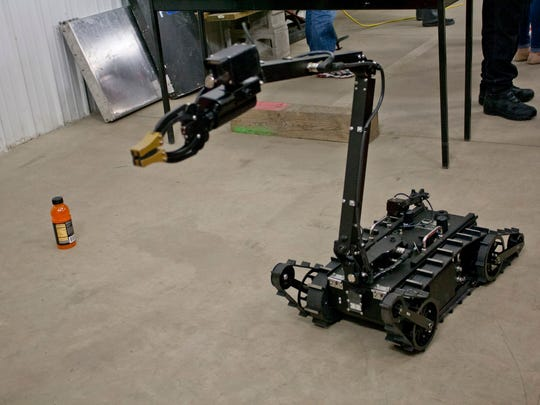 The Ithaca SWAT Team purchased a robot as part of a $100,000 federal grant in 2013. It helps keep officers out of dangerous situations.