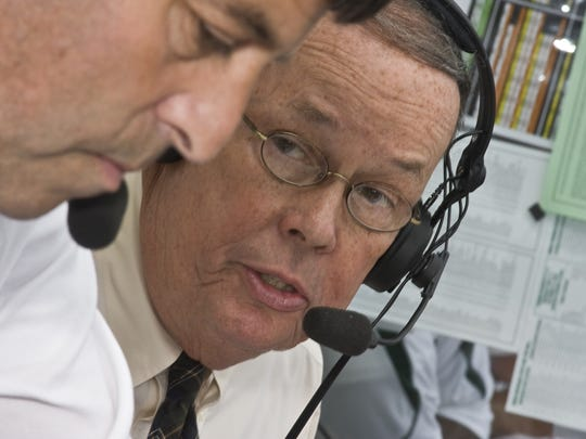 George Blaha, who is the voice of Michigan State football and the NBA's Detroit Pistons, enjoys his busy and hectic stretch of the year.
