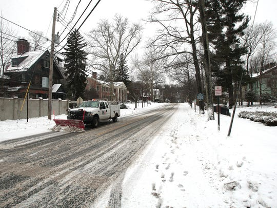All was quiet Tuesday on Macculloch Avenue in Morristown after a predicted snowstorm was a bust for Morris County. Generally, only 1 to 3 inches of snow fell in the county.