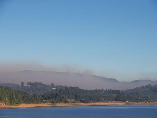 Scroggins Creek Fire near Henry Hagg Lake