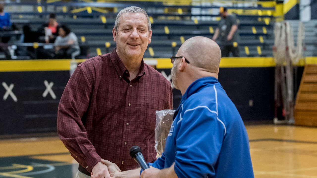 Russ Bortell is retiring in August after 32 years at Kellogg Community College, where he's been the athletic director, head baseball, head softball, head basketball and head volleyball coach.