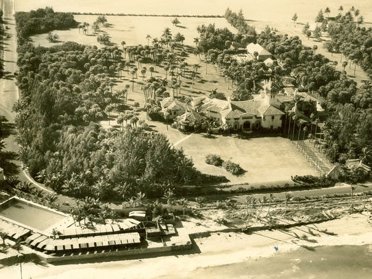 An aerial view of Mar-a-Lago from 1937.