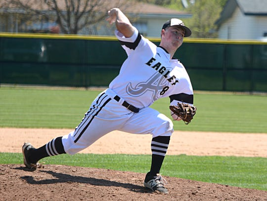 Abilene High pitcher Andrew Bennett throws a pitch
