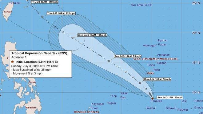Island residents can expect showers and thunderstorms from Sunday to continue through Monday, according to the National Weather Service