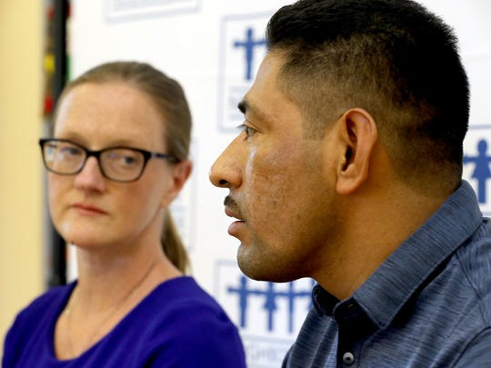 Enrique Lopez Perez of Mount Kisco describes his experience of being arrested and detained by Immigration and Customs Enforcement officers. He was arrested in April after ICE officers showed up at his home looking for another individual, who wasn't present. Perez was arrested and spent over two months detained in the Orange County jail before Neighbors Link, an immigration advocacy group based in Mount Kisco, was able to convince a judge to release him on bond. He spoke July 10, 2018 with Karin Anderson Ponzer, director of legal services for Neighbors Link.