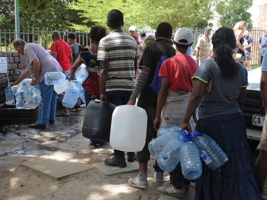AP SOUTH AFRICA CAPE TOWN WATER CRISIS