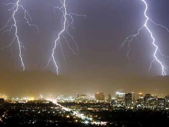 This storm blew over Chase Field Tuesday night, Aug.