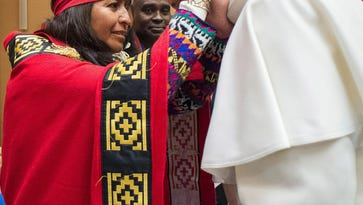 Pope: Native people have rights over their lands
