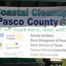 Banner from 2013 Pasco County Coastal Cleanup event.