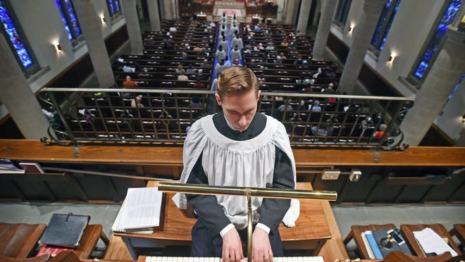 """Daniel Aune, director of music at Christ Lutheran Church, says of the organ, """"Because it is a vocal instrument, it requires air and has its own lungs — it encourages singing."""""""
