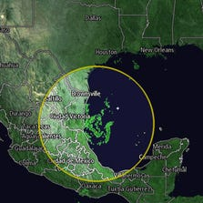 Tropical Storm Dolly before making landfall in Mexico