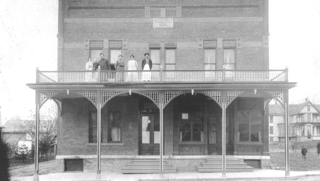 The Johnson House once was a hotel, as seen in this circa 1890s photo.