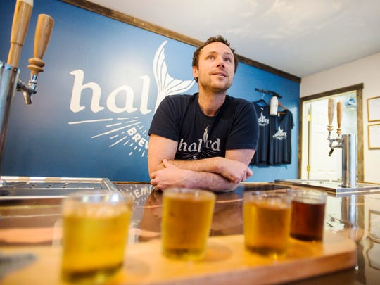 Kenny Richards is the owner and brewer at Halyard Brewing Co. in South Burlington where he makes ginger beer. Seen on Tuesday, April 25, 2017.