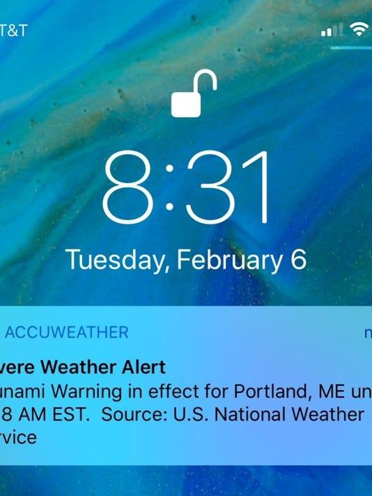 False Tsunami Warning