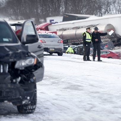 Interstate 78 was closed just west of the 78/22 interchange