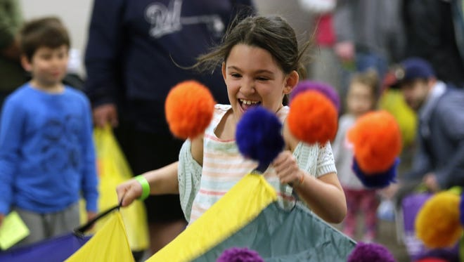 Aubriana Schrimpf of Appleton takes part in last year's Fox Cities Kidz Expo. It returns for a second year on Saturday, this time at the Fox Cities Exhibition Center.