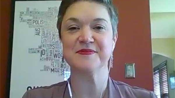 Leslie Corbett, executive director, Illinois Equal Justice Foundation, announces the launch of New Leaf Illinois at a virtual news conference Thursday.