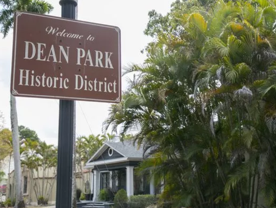 The bungalow lined streets of Dean Park, created by