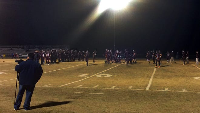 Stuarts Draft gets ready on Nov. 18 for the playoff game.