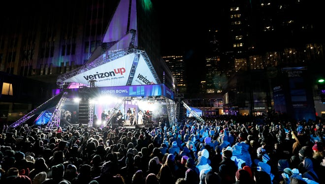 Morris Day and the Time perform Monday on Nicollet Mall in Minneapolis as part of Super Bowl Live. Monday night's Salute to Prince also featured the Revolution and Sheila E.