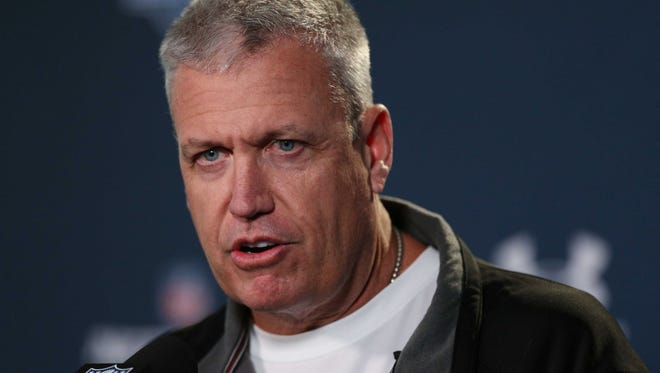 Bills coach Rex Ryan speaks at a press conference during the 2015 NFL Combine at Lucas Oil Stadium on Feb. 18, 2015.