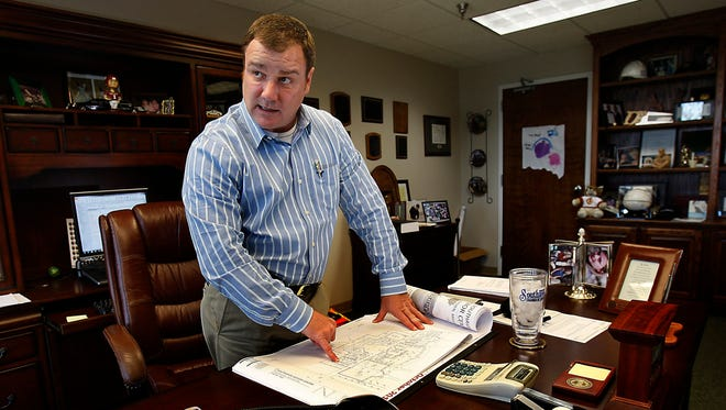 Former Southaven Mayor Greg Davis is seen in this photo taken Oct. 9, 2012,   (AP Photo/The Commercial Appeal, Stan Carroll)