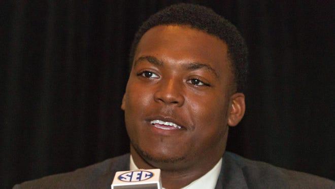 Vanderbilt defensive lineman Adam Butler at SEC Media Days in July 2014.