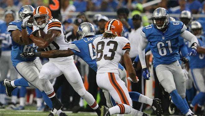 Lions rookie cornerback Nevin Lawson (43) was placed on injured reserve Tuesday.