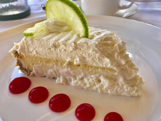 Key lime pie served at Stoney's Stone Crab at Bayfront