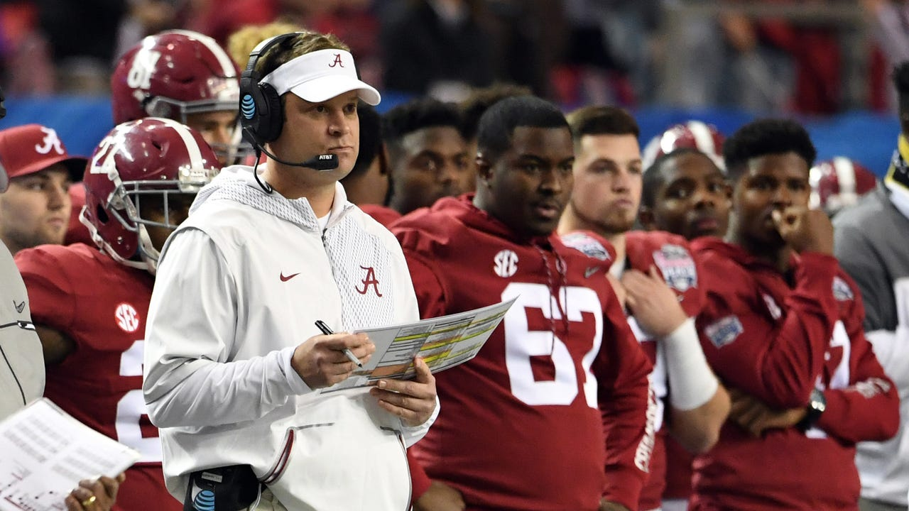 Lane Kiffin will leave his position as Alabama offensive coordinator and will not coach in the national championship game against Clemson, the school announced on Monday.
