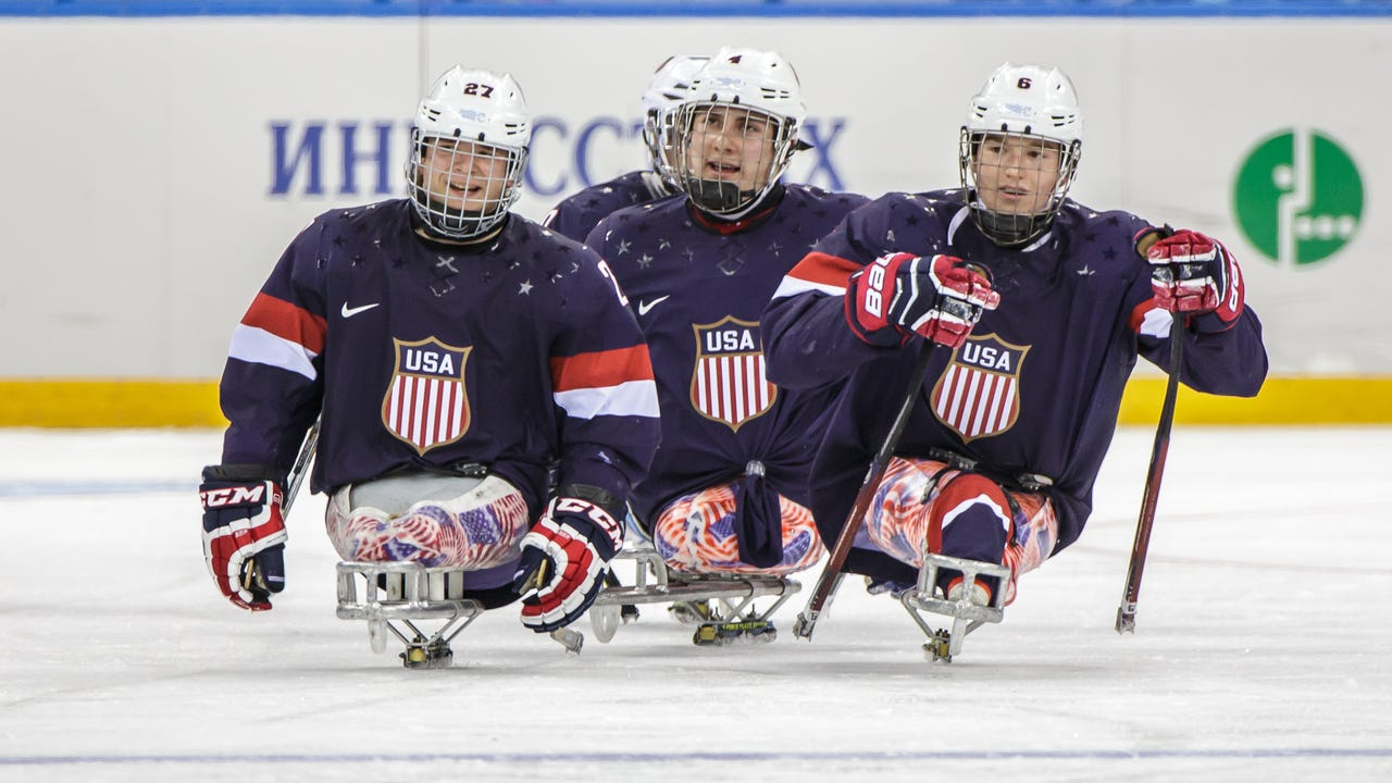 The New Jersey Freeze hosted a sled hockey workshop at Codey Arena in West Orange (20 July 2013)