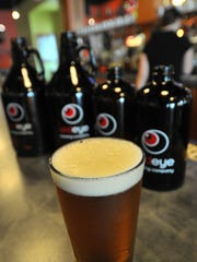 A glass of Red Eye Brewing Company beer.