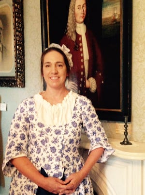 Cynthia Kauffman, president of Daughters of Liberty's Legacy and a Revolutionary War re-enactor.