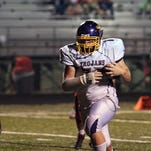 Wendy Bellino/For The Town Talk ASH junior nose tackle Jake Bellino (77) returns an interception for a touchdown last week against Tioga. It was the second pick-six of Bellino?s career, and he also scored a rushing touchdown against Lafayette earlier this season.