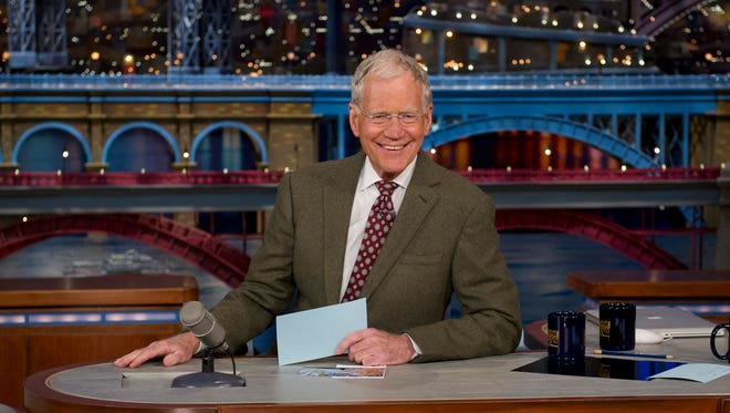 """""""Late Show' David Letterman will be Regis Philbin's guest on CBS' 'Late Late Show' on Jan. 27."""