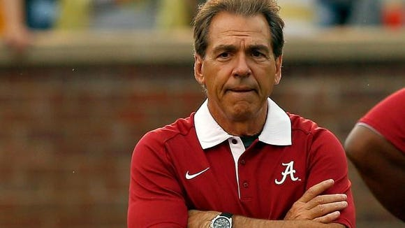Alabama head coach Nick Saban discussed a wide range