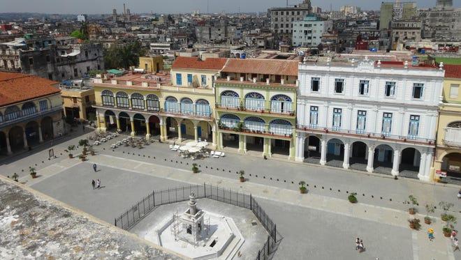 A bird's eye view of historic Havana.