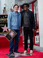 Filmmaker Quentin Tarantino and actor Samuel L. Jackson