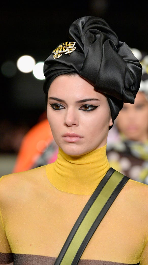 Here's the non-see-through part of Kendall Jenner's